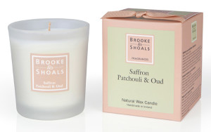 Brooke and Shoals Safran Patchouli Oud Duftkerze